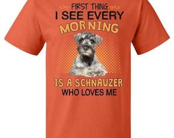 Schnauzer gift - Schnauzer loves me - Schnauzer short/long sleeve t-shirt