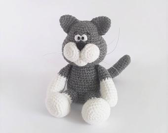 PATTERN: Crochet cat pattern - Amigurumi cat pattern - crocheted kitten pattern - PDF crochet pattern - tutorial