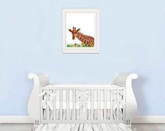 giraffe nursery wall decal, giraffe nursery decal, giraffe nursery decor, giraffe nursery art,  giraffe nursery print, nursery giraffe