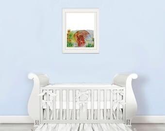 hippo nursery art, hippo nursery decor , Nursery animal wall decal, nursery animal head, nursery animal decal, nursery animal printable