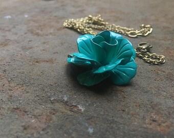 Elegant Rose Vintage Necklace Statement Necklace