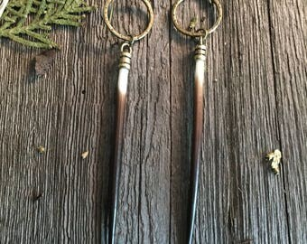 porcupine quills, porcupine quill earrings, unique earrings