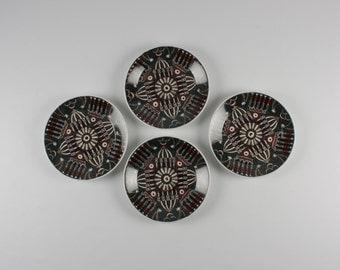 Set of 4 Portmeirion Magic City Tea Plates
