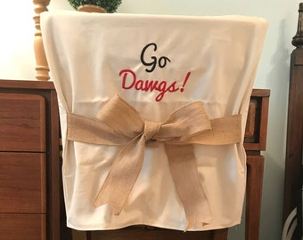 Desk Chair Covers/Monogrammed Chair Back Cover / Personalized Chair Cover / Dorm  Room Chair Part 59