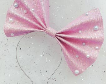 Pastel kawaii pink head bow