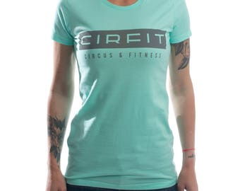 Women's CIRFIT Stamp Tee - Turquoise