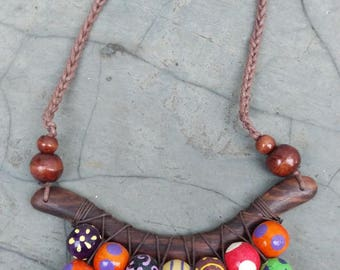 Handmade Leato Wood Necklace