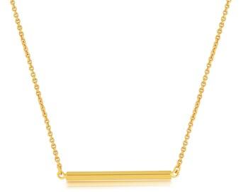 Bar Necklace Gold. Bar Pendant Necklace
