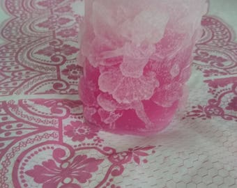 Faded Pink Oval Fairy Candle