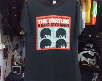 Vintage 1992 The Beatles Shirt Size XL Free Shipping 90s The Beatles Hard Days Night 1992 Concer Tour  John Lennon Paul McCartney