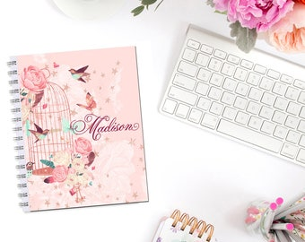 Birdcage Roses Planner Cover Personalized Monogram Erin Condren Life Planner Recollections A5 B6 Personal Pocket Dashboard Happy Planner