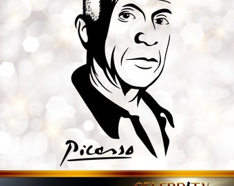 Pablo Picasso Silhouette, artist silhouettes, celebrity silhouette, famous people