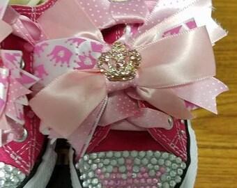 Princess Themed Embellished Converse (Infant Size 7)