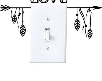LOVE - wall decal, light switch decal, wall decor