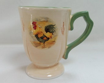 Royal Rooster Mugs by Gibson Hand Painted MINT!!