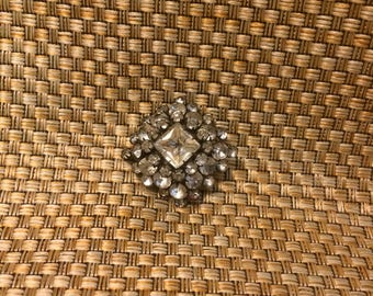 Vintage rhinestone brooch from the 50s
