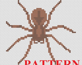 Wolf Spider Counted Cross Stitch PATTERN / Spider Cross Stitch / Spider Cross Stitch Cat Toy / Insect Cross Stitch / Cat Toy Cross Stitch