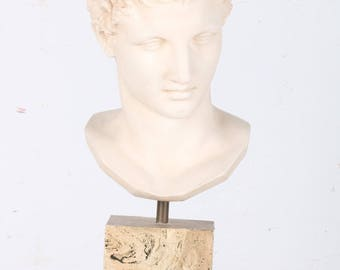 Plaster Bust Statue of Hermes