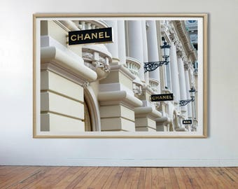 Chanel Print, Coco Chanel Wall Art, Coco Chanel, Chanel Wall Decor, Chanel Store, Fashion Print, Chanel Wall Art Print, Chanel Fashion Art
