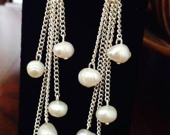 Fresh Water Pearls  Earrings