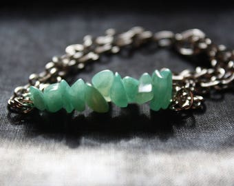 Aventurine Chain Bracelet