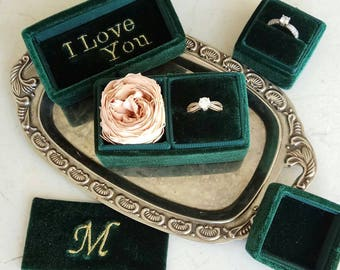 Monogram for your velvet ring box (this item is without box)