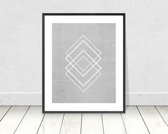 Geometric Print, Modern Minimal Wall Art, Printable Instant Download, Scandinavian Print, Abstract Art, Mid Century Modern, Geometric Decor
