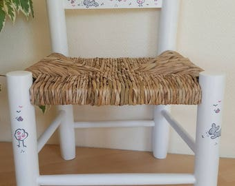 Hand decorated kids Chair