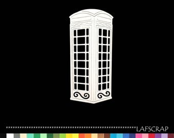 1 cut scrapbooking cabin telephone England London telephone big ben scrapbooking embellishment die cut scrap album
