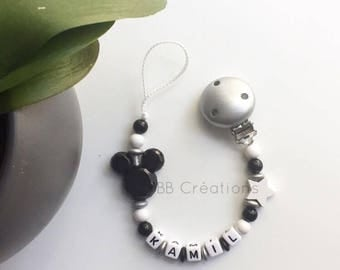 Personalized Mickey pacifier