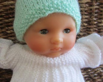 36 cms (Corolla type) Doll or premature baby - pastel green Hat