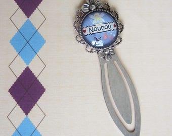 """Cadeau pour Nounou : Marque page """"Nounou"""""""