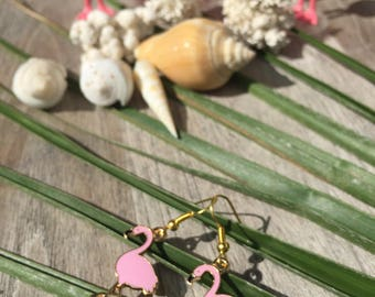 Tropic collection on frame with pretty pink Flamingo earrings