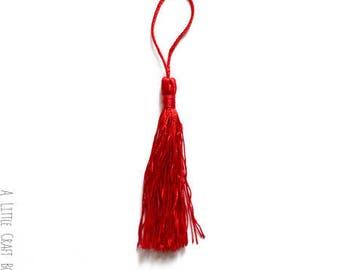 8 tassels 13.5 cm - Red