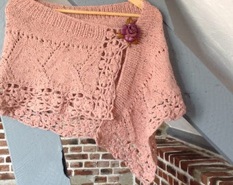 """Shawl hand knitted, Collection """"Bodach an storr"""""""