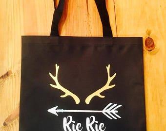Antler Design Tote Bag