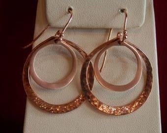 Handmade OOAK 14k Rose Gold Hoop Earrings (FREE Custom Sizing Available!)