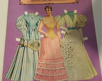 Antique Victorian Paper Doll book