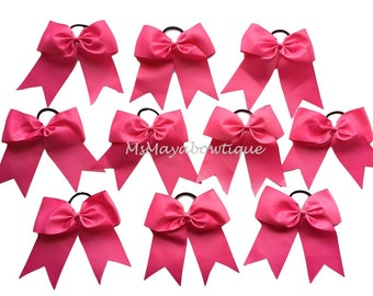 Hot pink cheer bows, Breast cancer cheer bows, pink cheer bows, cheer bows, cheerleading bow, big cheer bows, teen hair accessories, hairbow