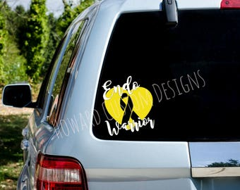 Endometriosis Awareness Decal, Endo Warrior Decal