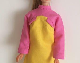 Vintage Barbie Braniff dress reproduction