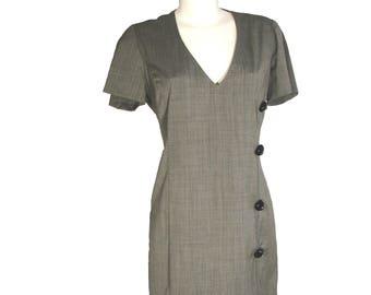 Unique grey cotton, stylish dress!