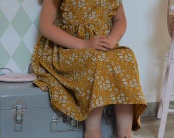 Liberty dress capel mustard