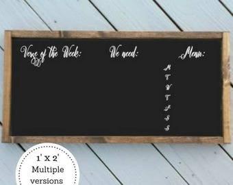 Chalkboard menu | Etsy