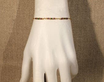 """Bracelet beads and chain """"discreet chic"""" fashion"""