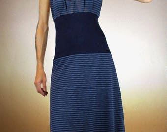 Navy Blue long dress navy blue and country style
