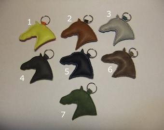 Leather horse head Keyring