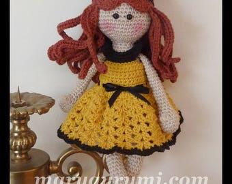 Bee doll, plush crochet, Amigurumi