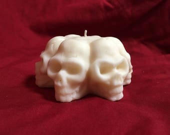 "100% Natural Soy Wax ""Circle of Skulls"" Candle"