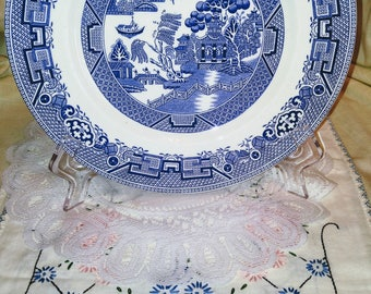 Ridgway Staffordshire Blue Willow Plate